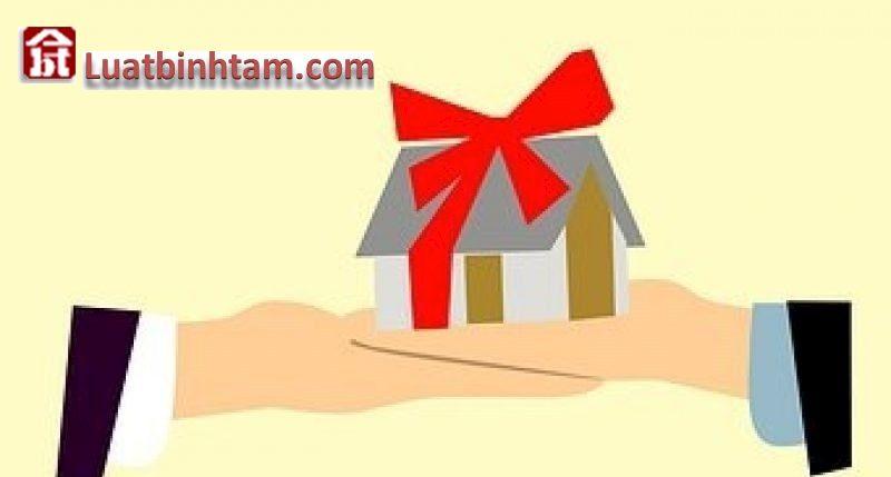 Hợp đồng tặng cho nhà đất quy định trong luật dân sự