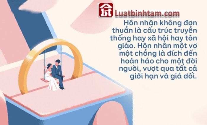 Chế độ hôn nhân gia đình một vợ một chồng