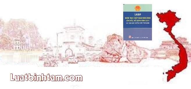 Luật quốc tịch Việt Nam