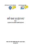 Sổ tay luật sư - tập 1